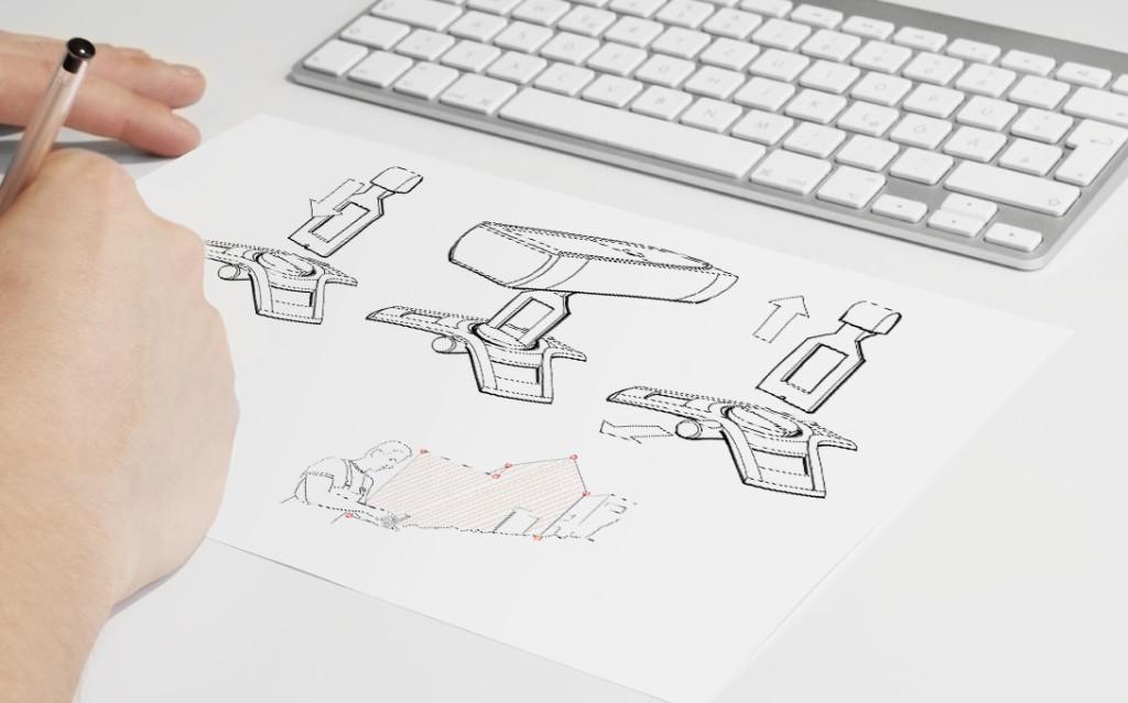 Leica S910 Werkzeugdesign Leica Geosystems Disto S910- Der neue Laserdistanzmesser der Marke Leica Geosystems DISTO™ S910 revolutioniert das Messen mit handgeführten Laserdistanzmessgeräten. Erstmals ermöglicht die ausklappbare Smart Base das Messen von Distanzen zwischen mehreren Punkten präzise von einer Position aus. Die optimale Praktikabilität wird gewährleistet durch sichere Stand- und Anlageflächen, stoßfest geschützte Kanten, ein großes Farbdisplay und ein intuitives Bedienkonzept. Messepunkte können als Grundriss oder 3D Daten erfasst und einfach über die USB Schnittstelle oder WLAN übermittelt werden. Neben der Verkörperung der Markenwerte und der stringenten Weiterführung der Leica Geosystems Designsprache bringt das high-end Gerät des Portfolios die hohe Funktionalität, insbesondere die innovative Messtechnologie wirkungsvoll zur Geltung. Leica S910 Werkzeugdesign von budde burkandt innovation design ist eine strategische Agentur - Studio für strategisches Produkt design - innovatives Industriedesign - ui ux design in München Deutschland.