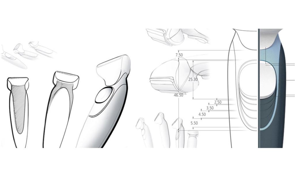 Rasiererdesign Die Ästhetik des Rasierergehäuses zielt darauf ab für Frauen und Männer gleichermaßen attraktiv zu sein. Die Gestaltung des Grundkörpers erlaubt je nach Kombination von Farbe, Material und Oberfläche die Entfaltung unterschiedlicher Wirkungen. Dies spart Werkzeugkosten und bietet eine breite Anzahl an Gestaltungsmöglichkeiten für unterschiedliche Zielgruppen. Rasiererdesign von budde burkandt innovation design ist eine strategische Agentur - Studio für strategisches Produkt design - innovatives Industriedesign - ui ux design in München Deutschland. BUDDE BURKANDT DESIGN gestaltet Produkte. Wir verbinden strategisches Denken mit innovativen Lösungen, ausgezeichnetem Design und hoher Umsetzungskompetenz. Auf dieser Basis bieten wir eine zielgerichtete Leitung und Durchführung aller Prozesse der Produktgestaltung und Produktentwicklung an - von der ersten innovativen Idee bis zur marktreifen Umsetzung.Rasiererdesign